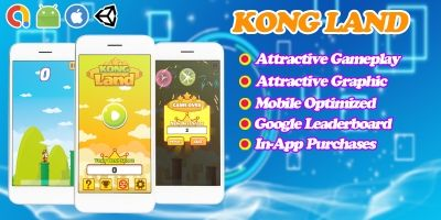 Kong Land - Endless Unity Game