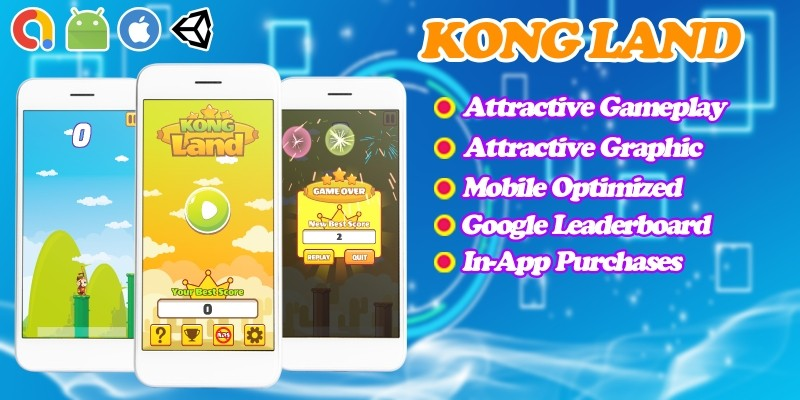 Kong Land - Endless Unity Game