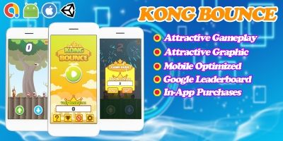 Kong Bounce - Endless Unity Game