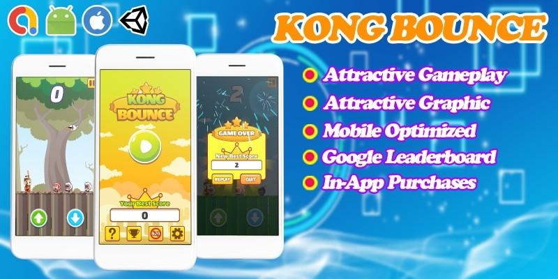 Kong Bounce - Endless Unity Game