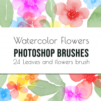 Flowers And Leaves Photoshop Brushes