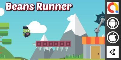 Beans Runner Unity Platform Game With Admob