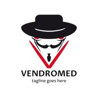 Vendromed V Letter Logo