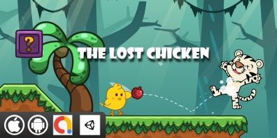 The Lost Chicken Unity Game With 10 Levels