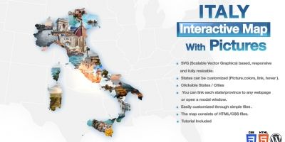 Italy Interactive Map With Pictures