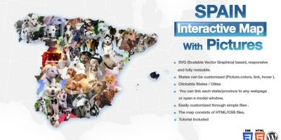 Spain Interactive Map With Pictures