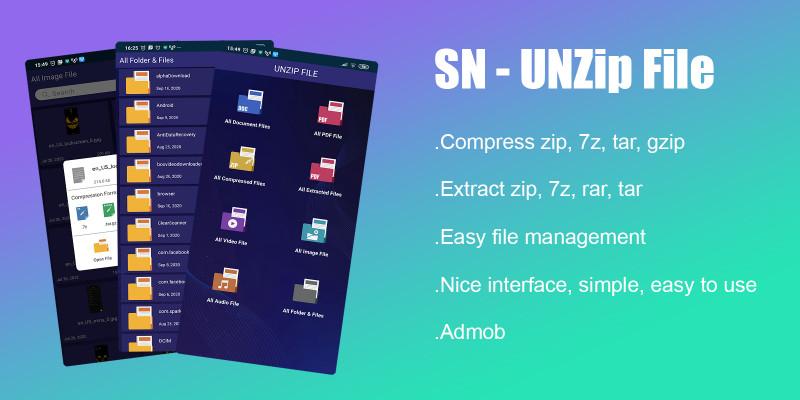 Unzip Files - Android App Source Code