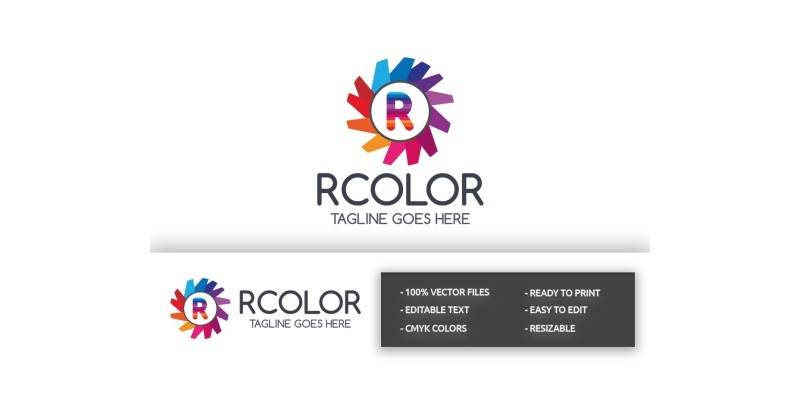 RColor Letter R Logo