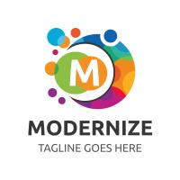 Modernize Letter M Logo
