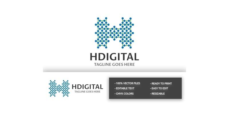 HDigital Letter H Logo
