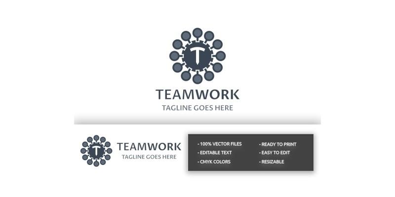 Team Work T Letter Logo