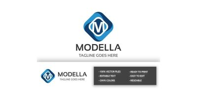 Modella Letter M Logo