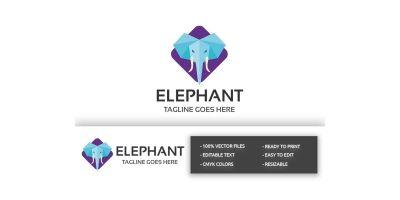 Square Elephant Logo