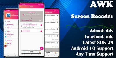 Screen Recorder With Audio - Android Source Code
