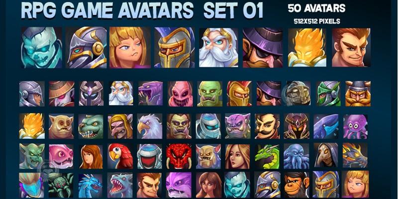 RPG Game Avatars Pack 01