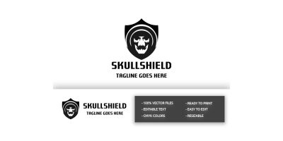 Skull Shield Logo