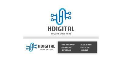 Pro HDigital (Letter H) Logo