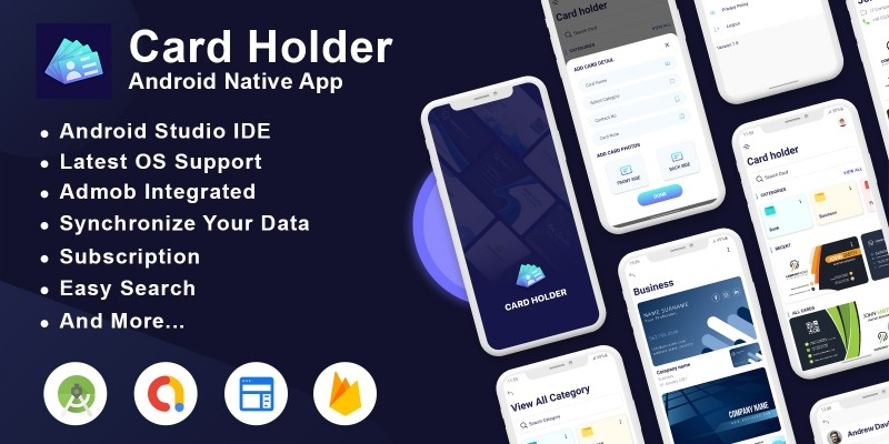 Card Holder Android App with Admin Panel
