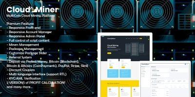 CloudMiner - MultiCoin Cloud Mining Platform