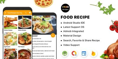Food Recipe - Android App With Admin Panel