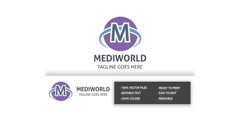 Mediworld Letter M Logo
