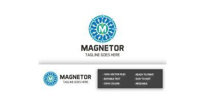 Magnetor Letter M Logo