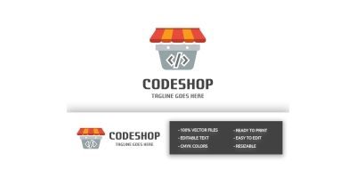 Code Shop Basket Logo