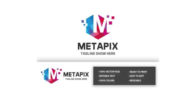 Metapix Letter M Logo