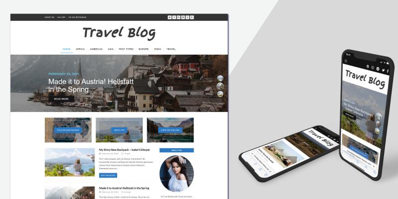 Diamond Travel Blog - WordPress Theme