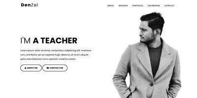 Denzel - Personal Portfolio HTML Template