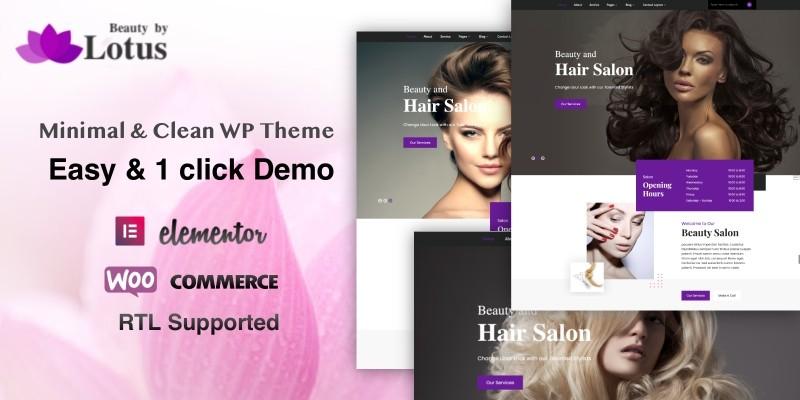Lotus Pro - Beauty Salon WordPress Theme