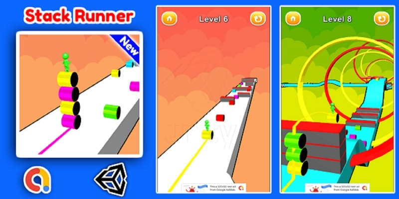 Stack Runner 3D Game Unity Source Code