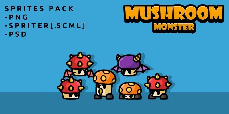Mushroom Monster Game Sprites