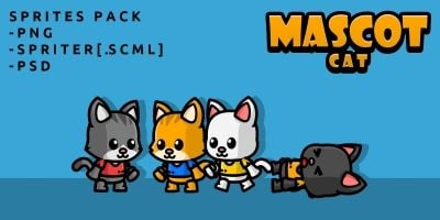 Mascot Cat Game Sprites
