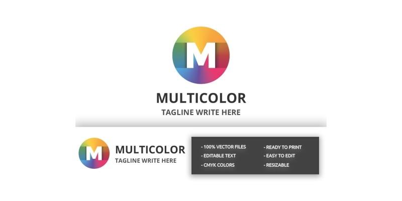 Multicolor Letter M Logo