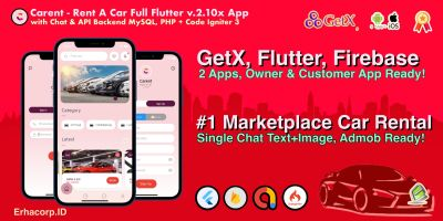 Carent - Rent Car Flutter Apps