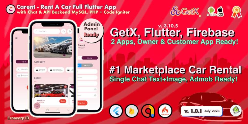 Carent - Rent Car Flutter Apps
