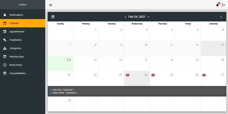 Angular Booking System - Appointment Scheduling