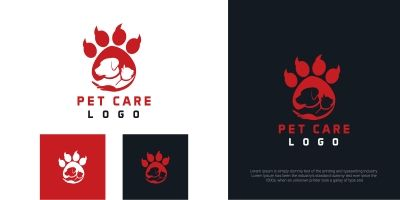 Pet Care Creative Logo