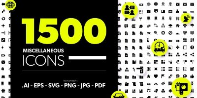 1500 Miscellaneous Icons