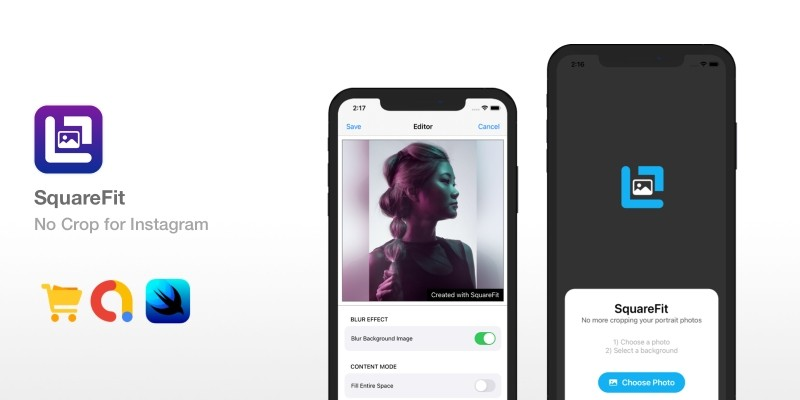 SquareFit - No Crop For Instagram iOS Source Code