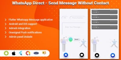 WhatsApp Direct - Flutter App Template