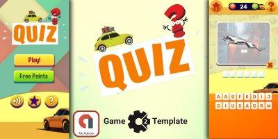 Quiz Car Game HTML5 Construct 3