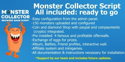 Monster Collector Script Bundle