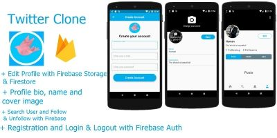 Twitter Clone With Firebase - Flutter Application