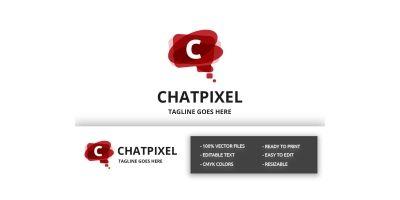 Chat Pixel (Letter C) Logo