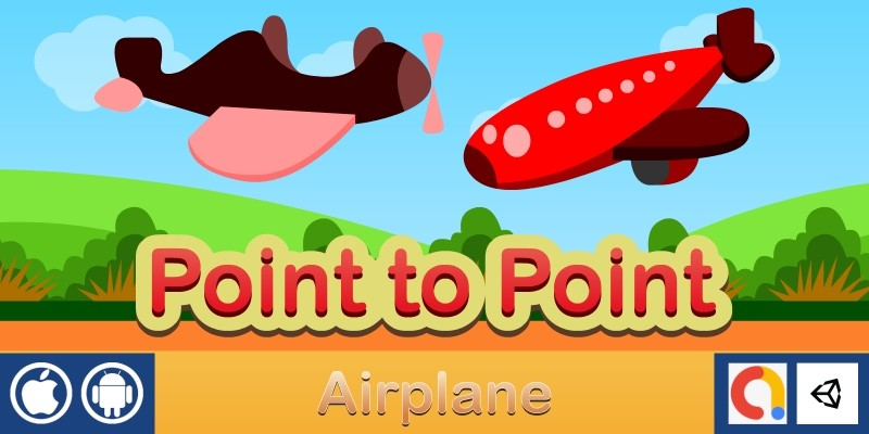 Point to Point - Airplane Unity Kids Game