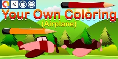 Your Own Coloring - Airplane Unity Kids Game