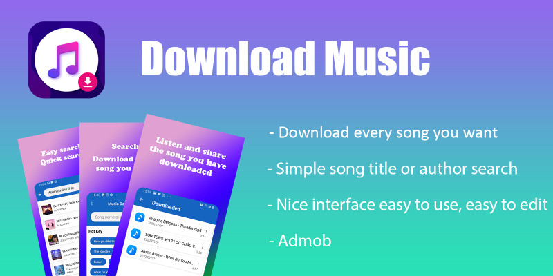 Music Downloader - Android App Template