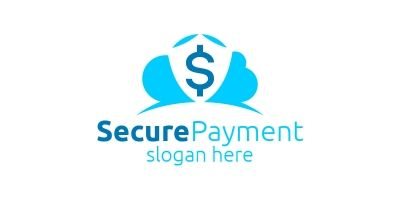 Cloud Online Secure Payment Logo Design
